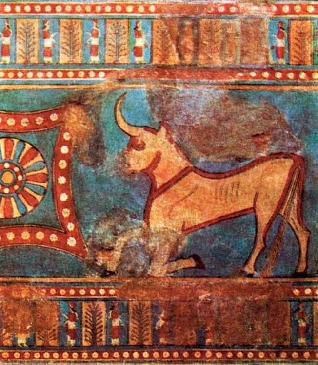 Urartu Bull Wall Painting (EvgenyGenkin)