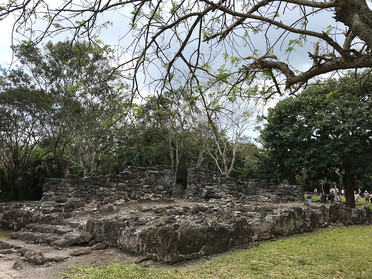 Remnants of Maya Ruins at San Gervasio, Mexico