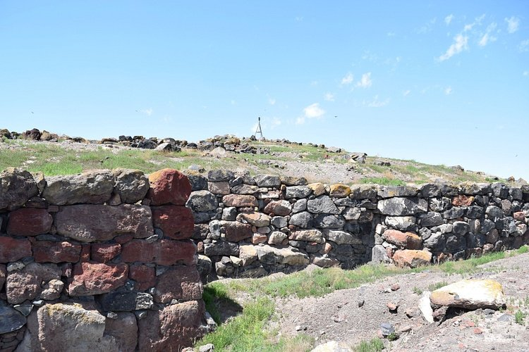 Ruins of Metsamor Fortress in Armenia