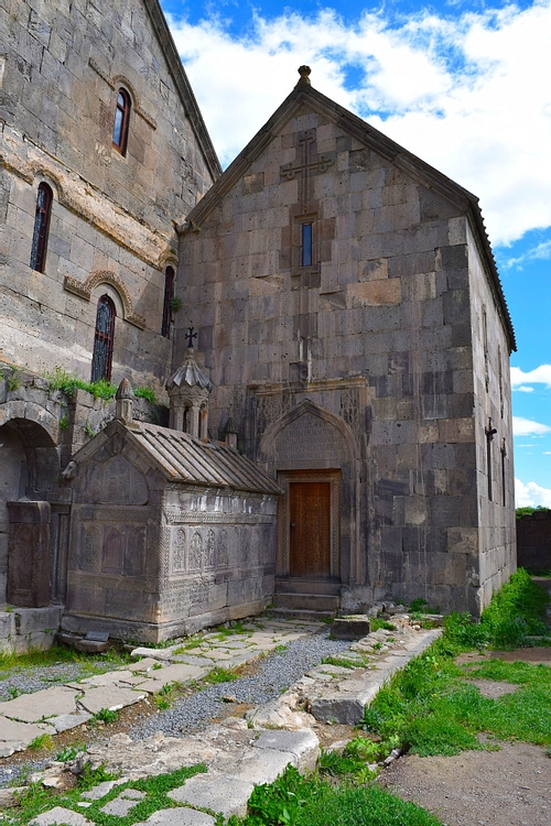 Outside View of Church of St. Pogos and Petros at Tatev Monastery in Armenia