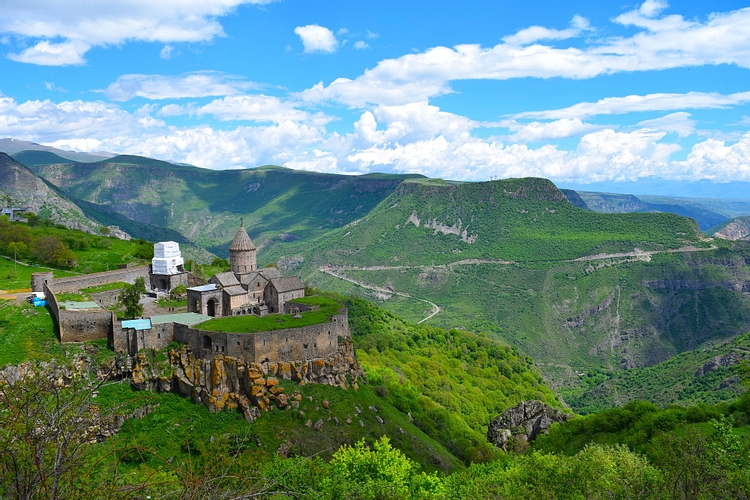 View of Armenia's Tatev Monastery