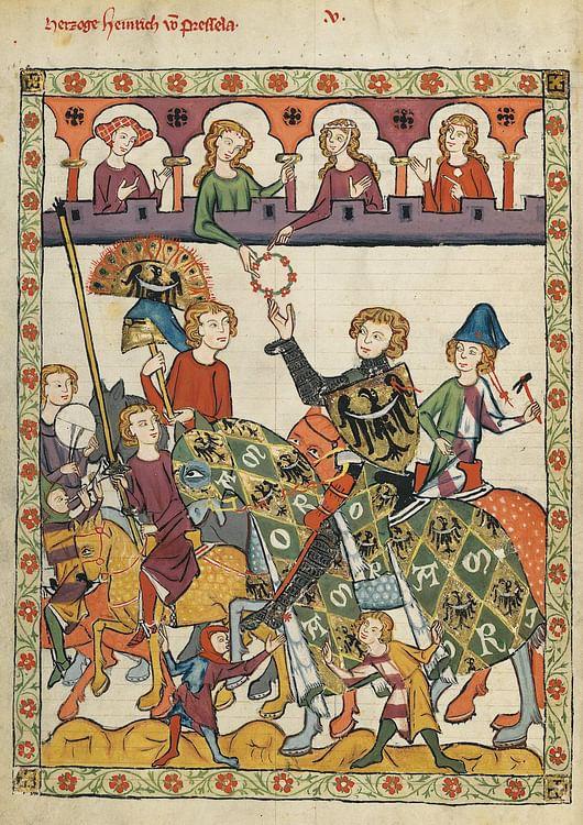 Duke Heinrich von Breslau in the Codex Manesse (Meister des Codex Manesse (Nachtragsmaler I))