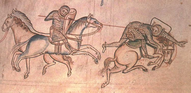William Marshal Fighting Baldwin Guisnes (Mathew Paris)