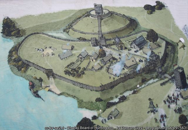 motte and bailey castle diagram illustration ancient history