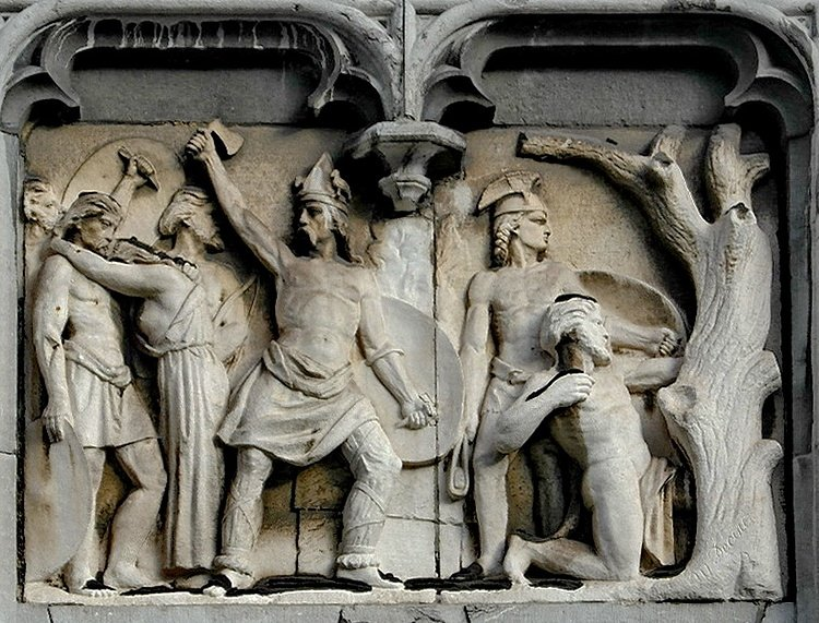 Relief of Gauls Fighting Romans