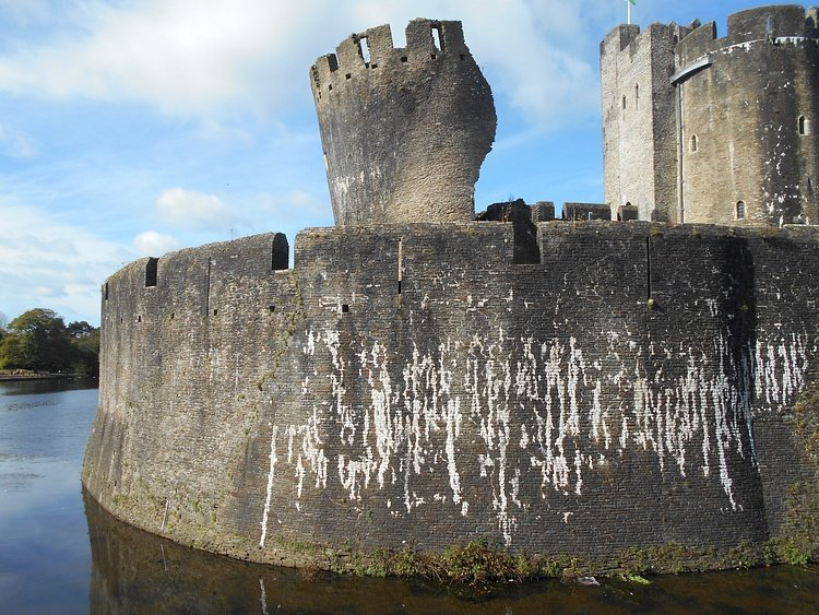 Wing-wall, Caerphilly Castle