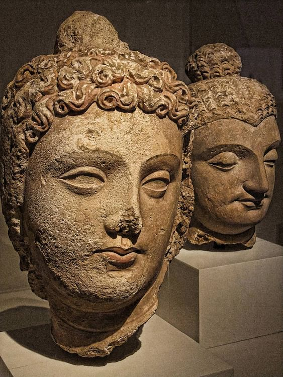 A Bodhisattva, Gandhara (Mary Harrsch (Photographed at The Art Institute of Chicago))