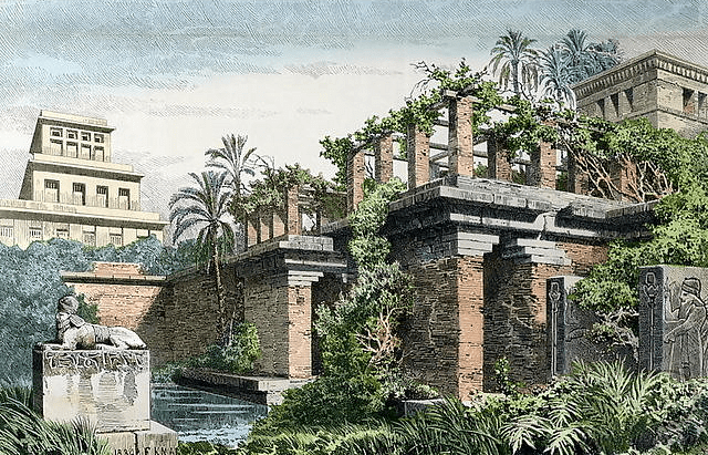 A representation of the Hanging Gardens of Babylon