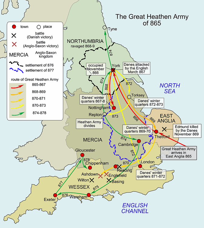 Map Of England King Alfred.Great Viking Army In England 865 878 Ce Illustration Ancient