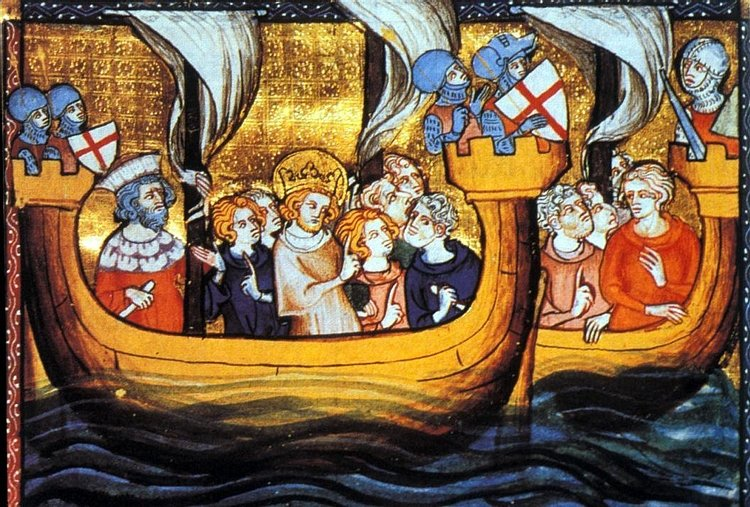 Louis IX Departing for the Seventh Crusade