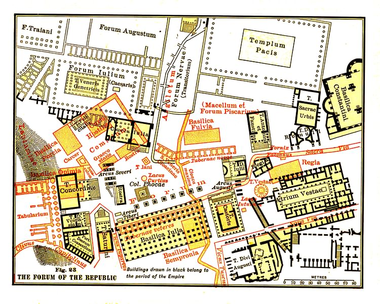 Map of the Roman Forum