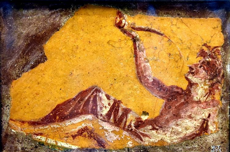 Wall Painting of a Man at a Banquet