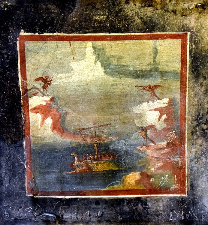 Panel Depicting Ulysses Resisting the Songs of the Sirens