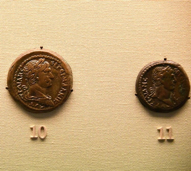 Bronze Drachm and Half-Drachm of Trajan