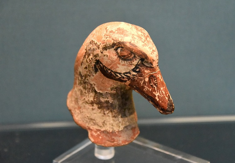 Fragment of a Phrygian Goose-Headed Pottery