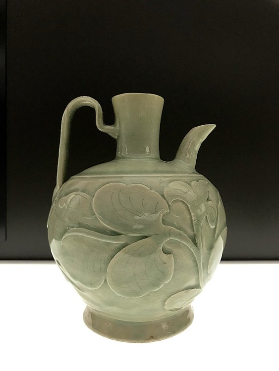 Chinese Relief-Carved Ewer