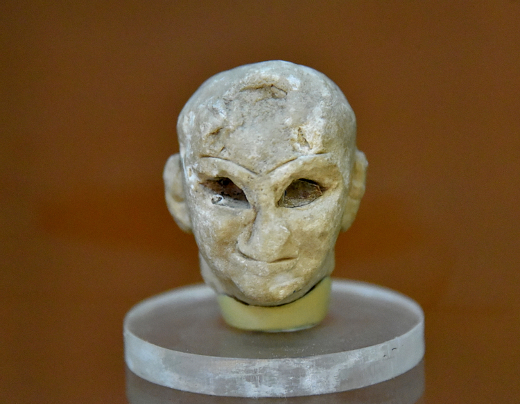 Head of a Sumerian Male from Tell Asmar