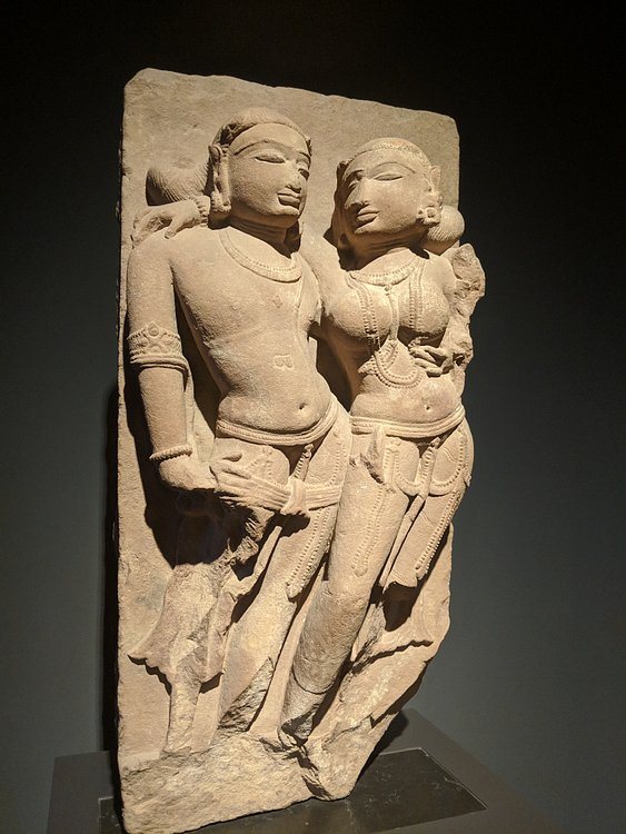 Amorous Indian Couple Relief