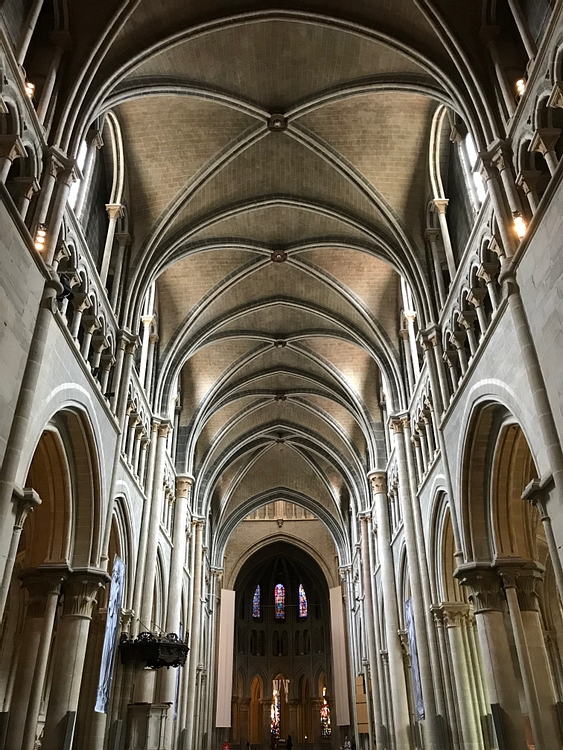 Ceiling and Pillars of Lausanne Cathedral