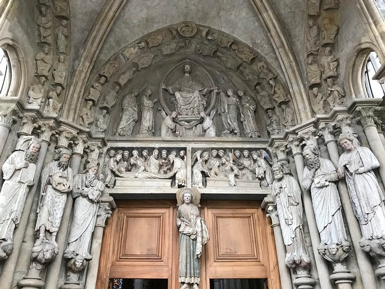 Gothic Statues at Lausanne Cathedral