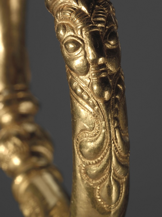 Gold Celtic Ring Detail, 390 BCE