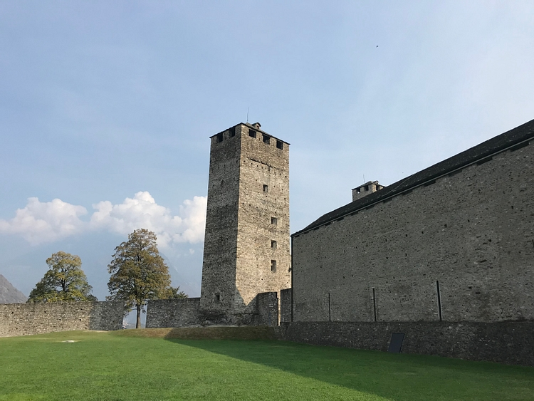 Black Tower at Castelgrande in Bellinzona