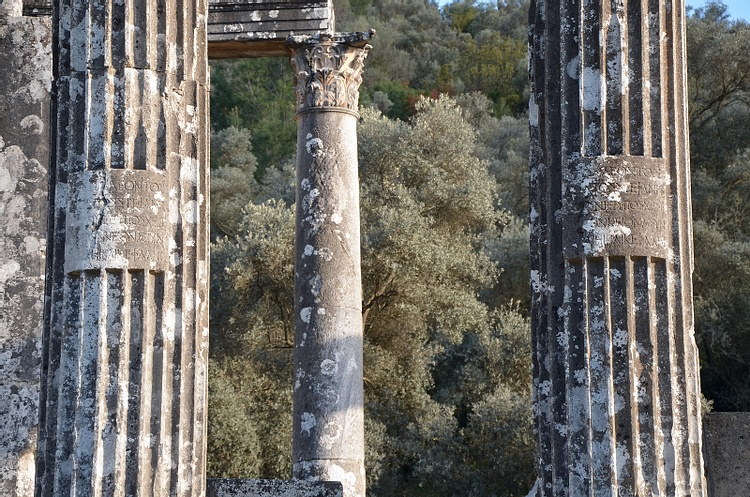 Columns of the Temple of Zeus Lepsynos, Euromos