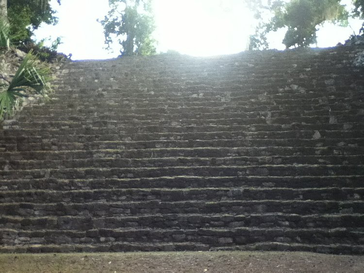 Stairs Leading up to the Gran Basamento Chacchoben