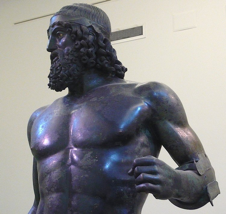 Detail, Riace Warrior A