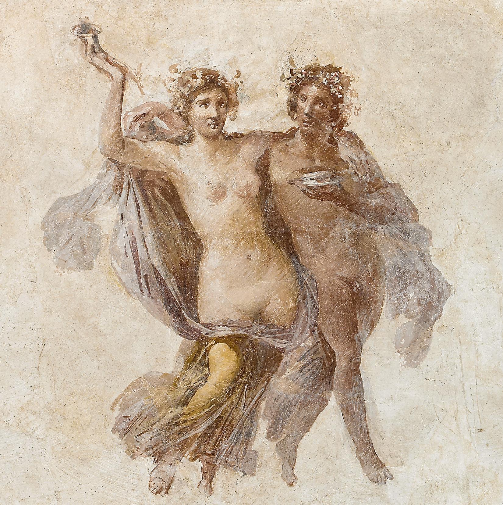 Fresco of Dionysos and Ariadne, Getty Villa