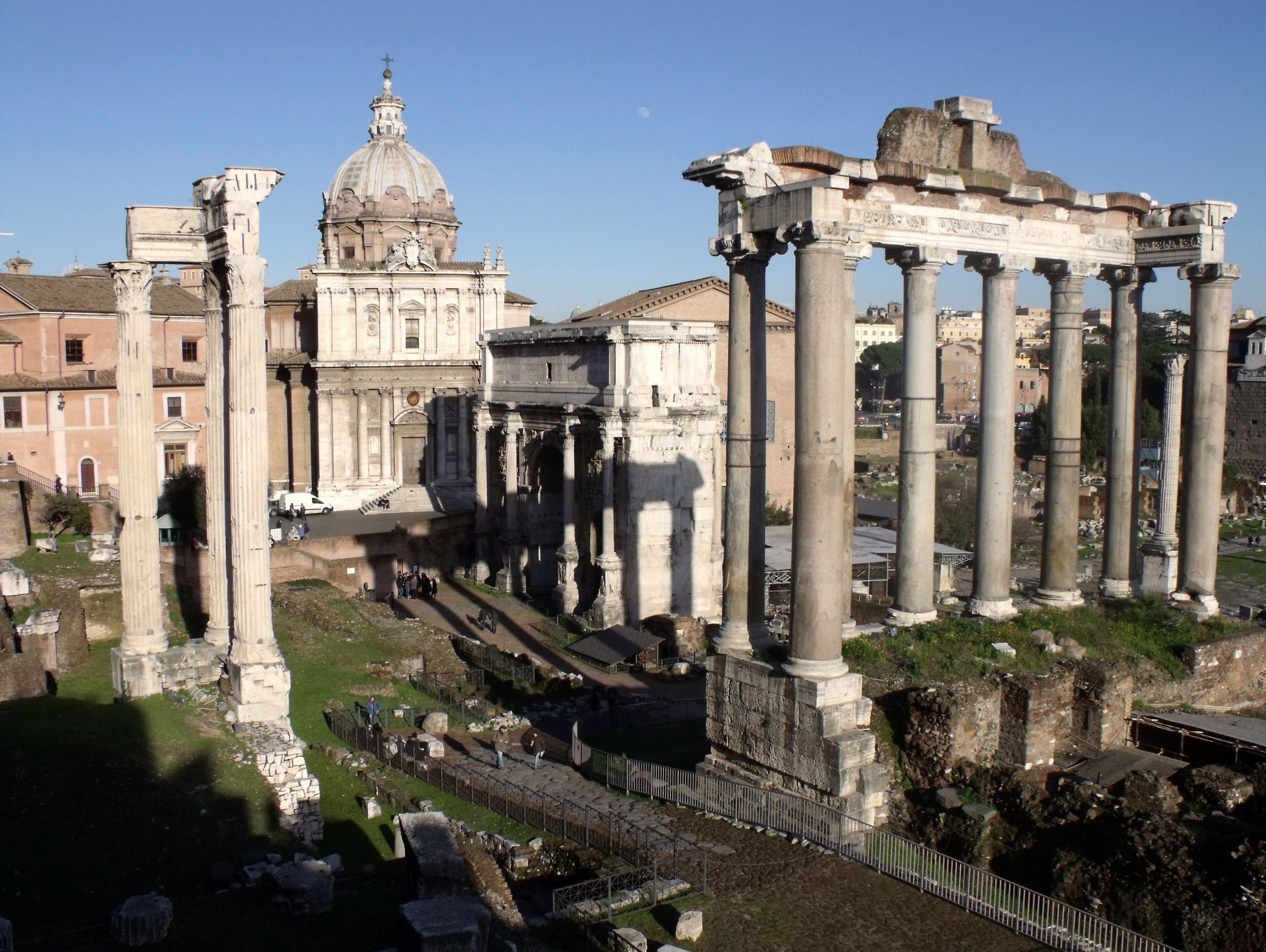 Temple Of Saturn Rome Illustration Ancient History