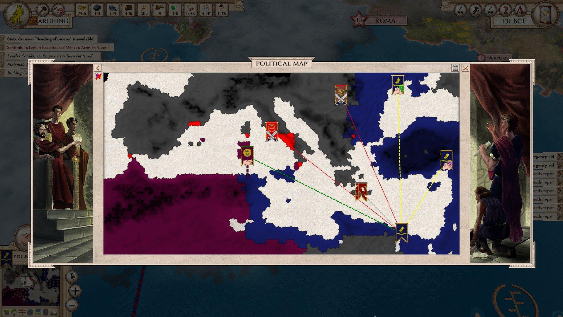 Political Map - Aggressors: Ancient Rome (Illustration