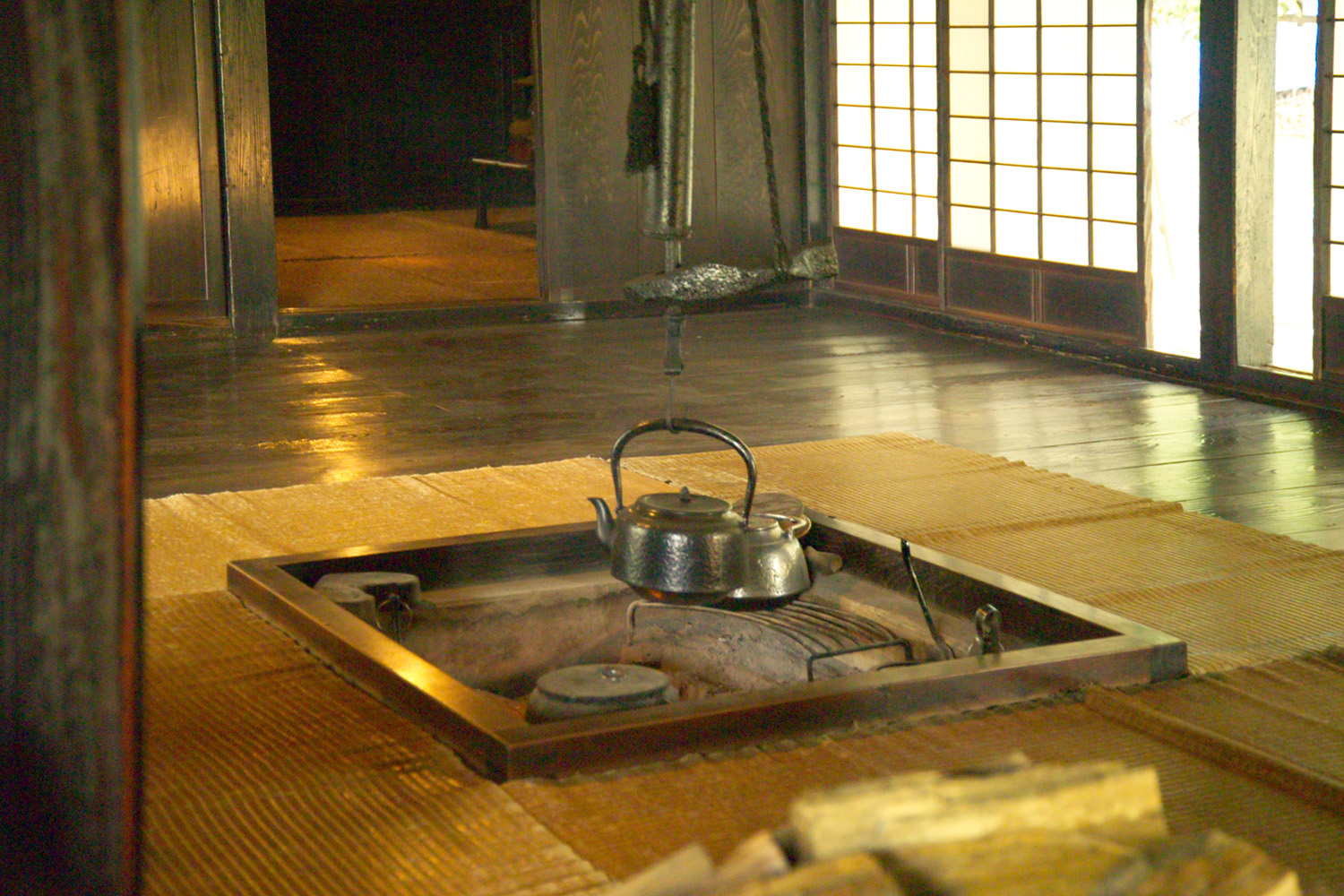 Traditional Japanese Hearth Illustration Ancient History