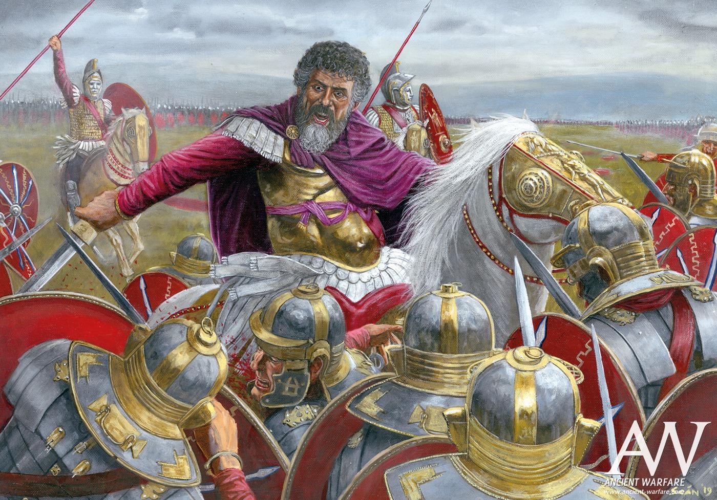 Septimius Severus at the Battle of Lugdunum (197 CE) (Illustration ...