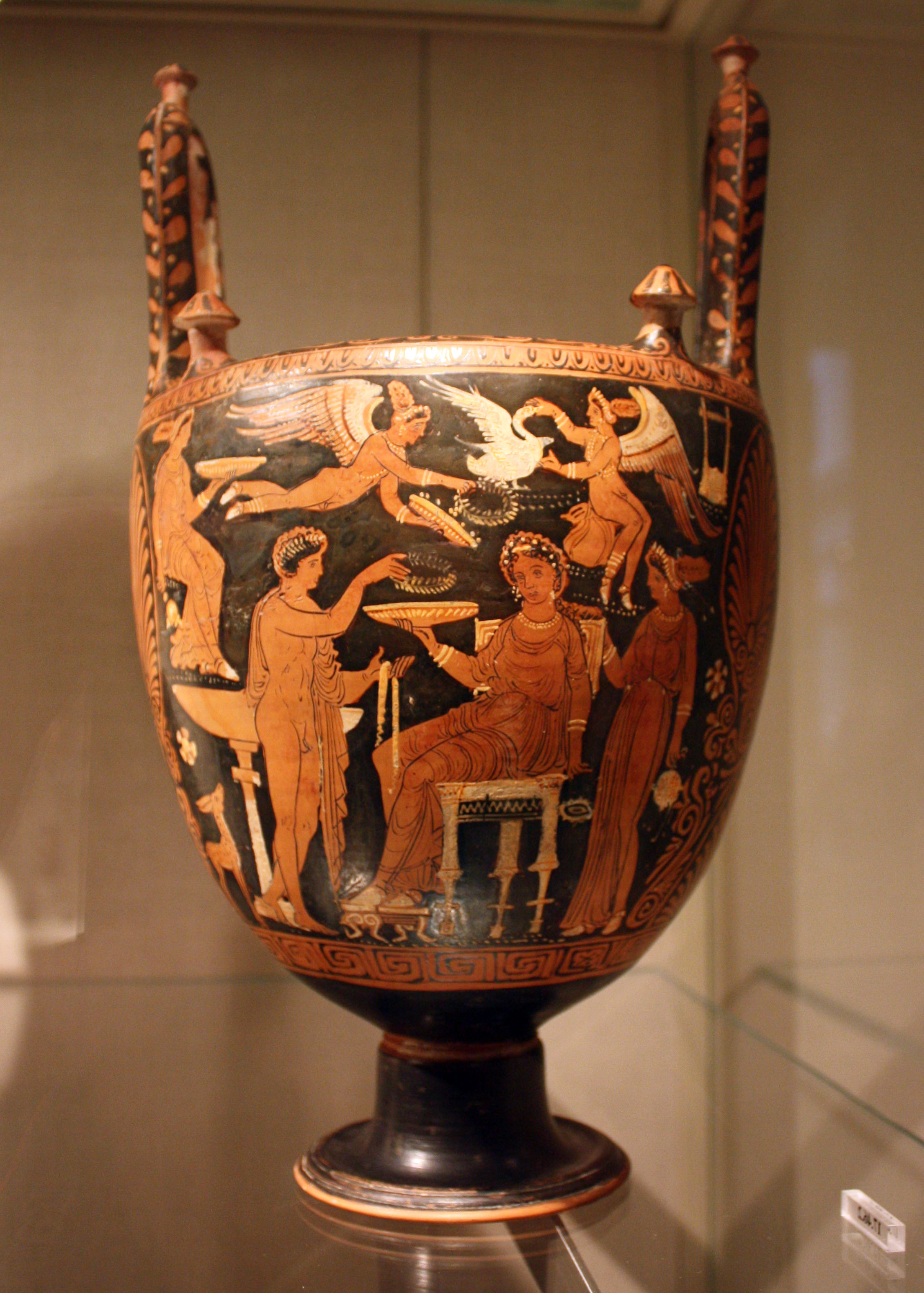 A visual glossary of greek pottery article ancient history lebes gamikos pl lebetes gamikoi a large vase with two upright handles often with a conical stand and lid used during marriage and burial ceremonies reviewsmspy