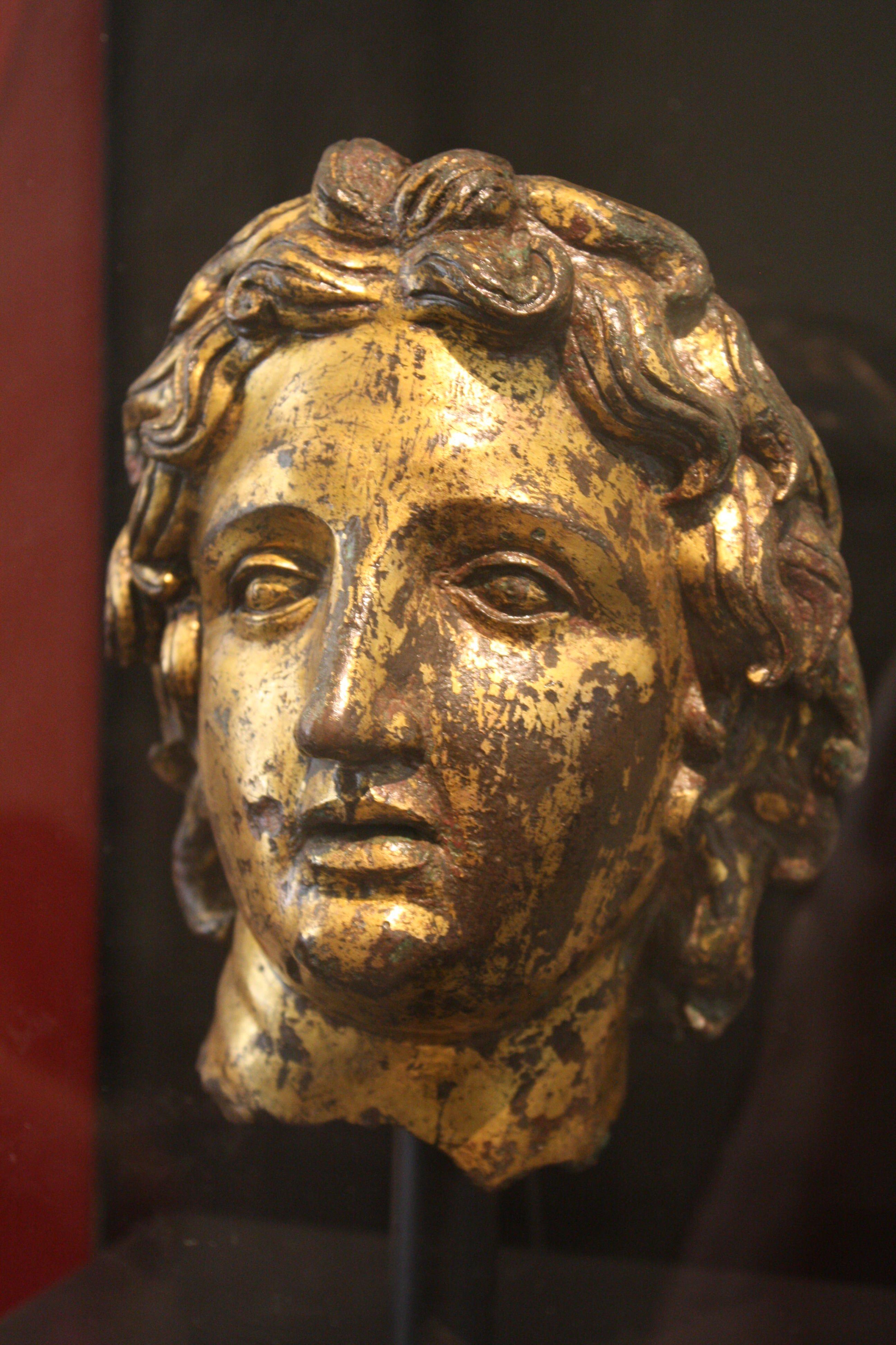 alexander the great bronze head illustration ancient history