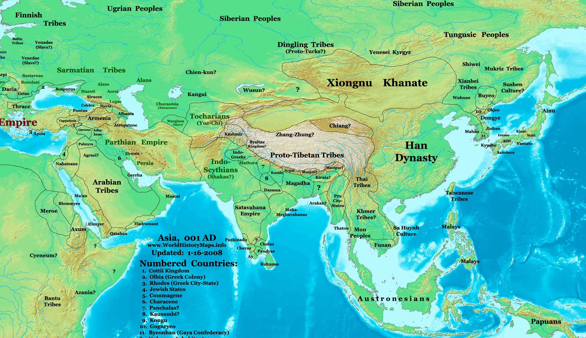 Map Of The Eastern Hemisphere Map of the Eastern Hemisphere (1 CE) (Illustration)   Ancient