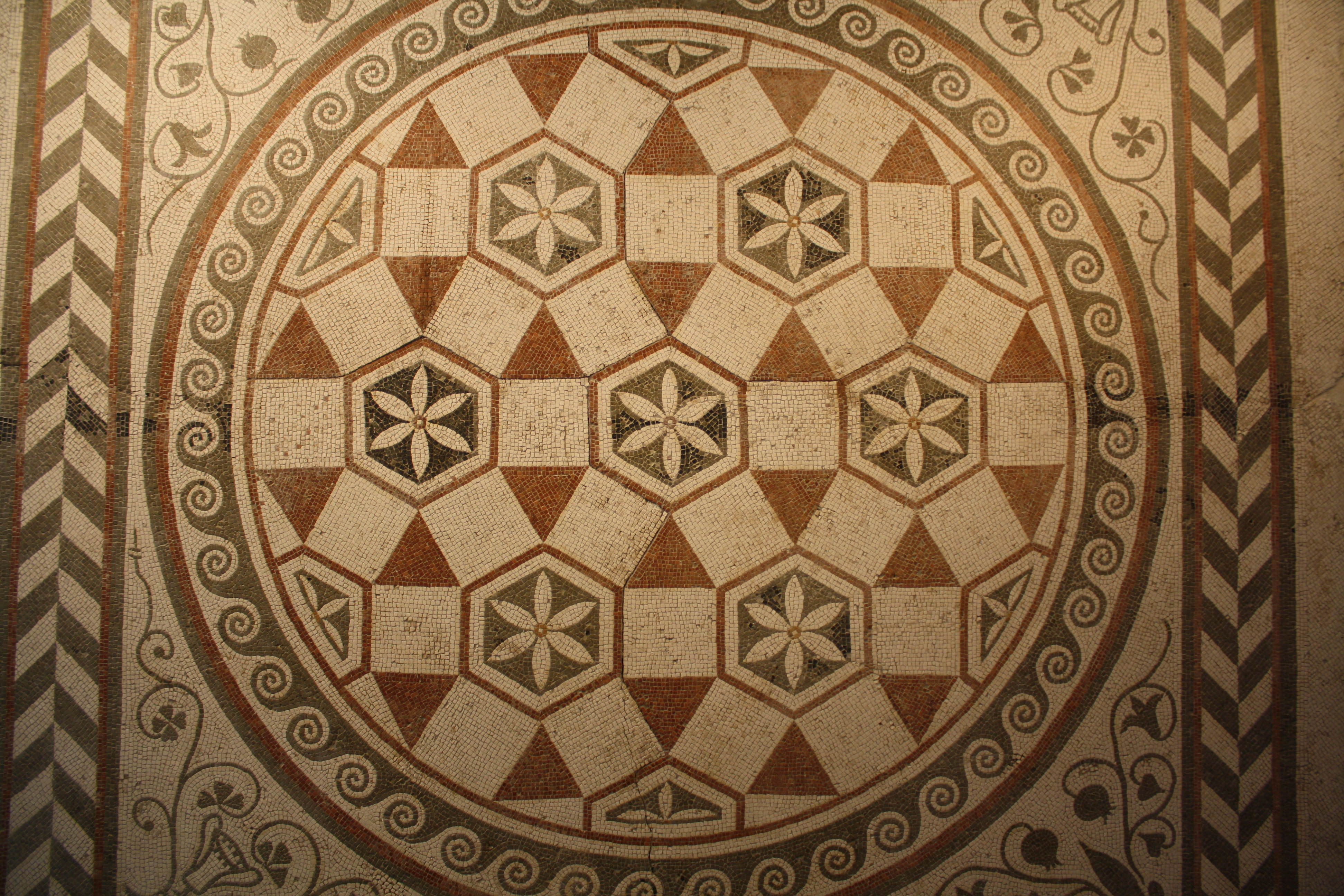 Roman Geometric Mosaic Illustration Ancient History