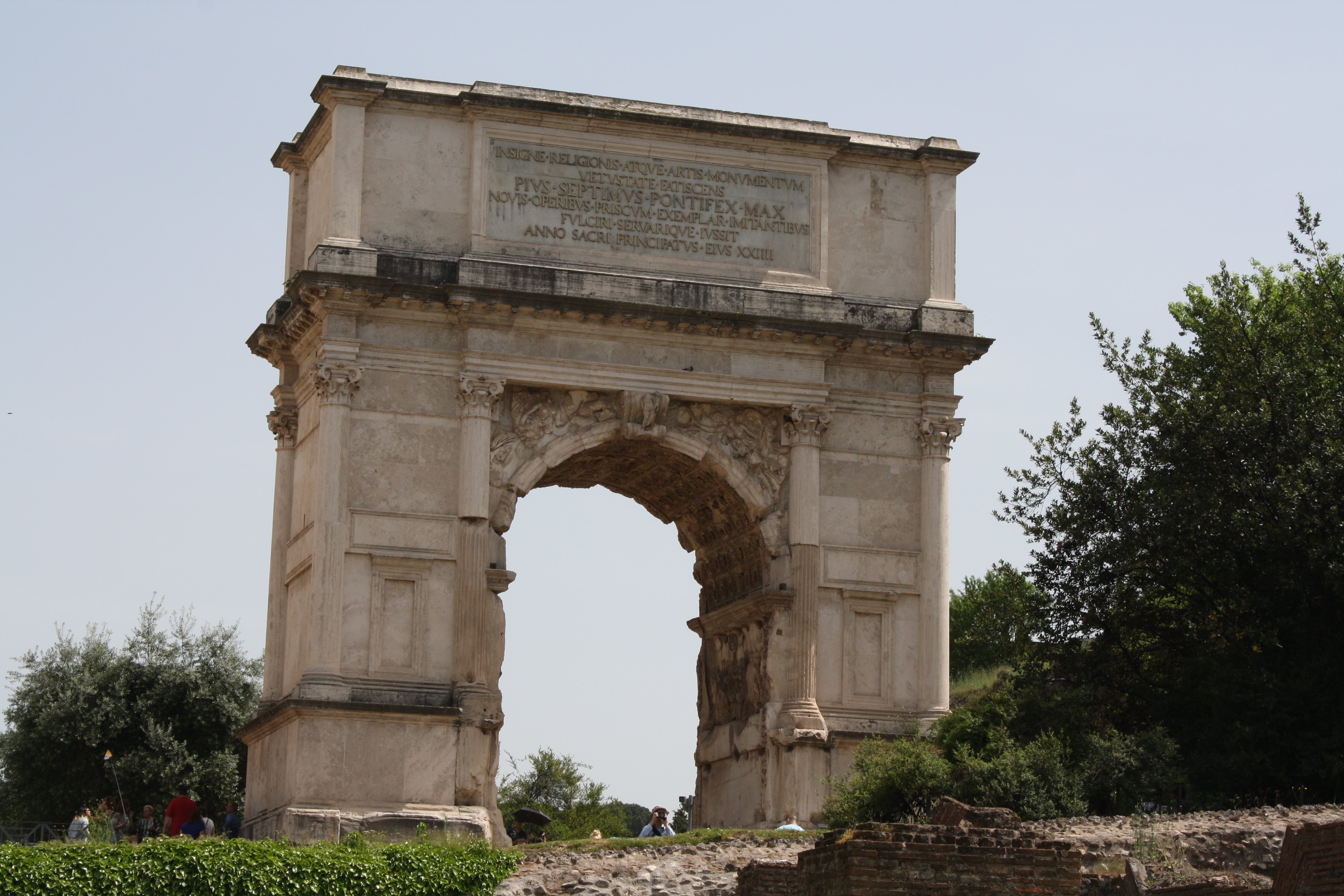 Arch of Titus, Rome (Illustration) - Ancient History ...