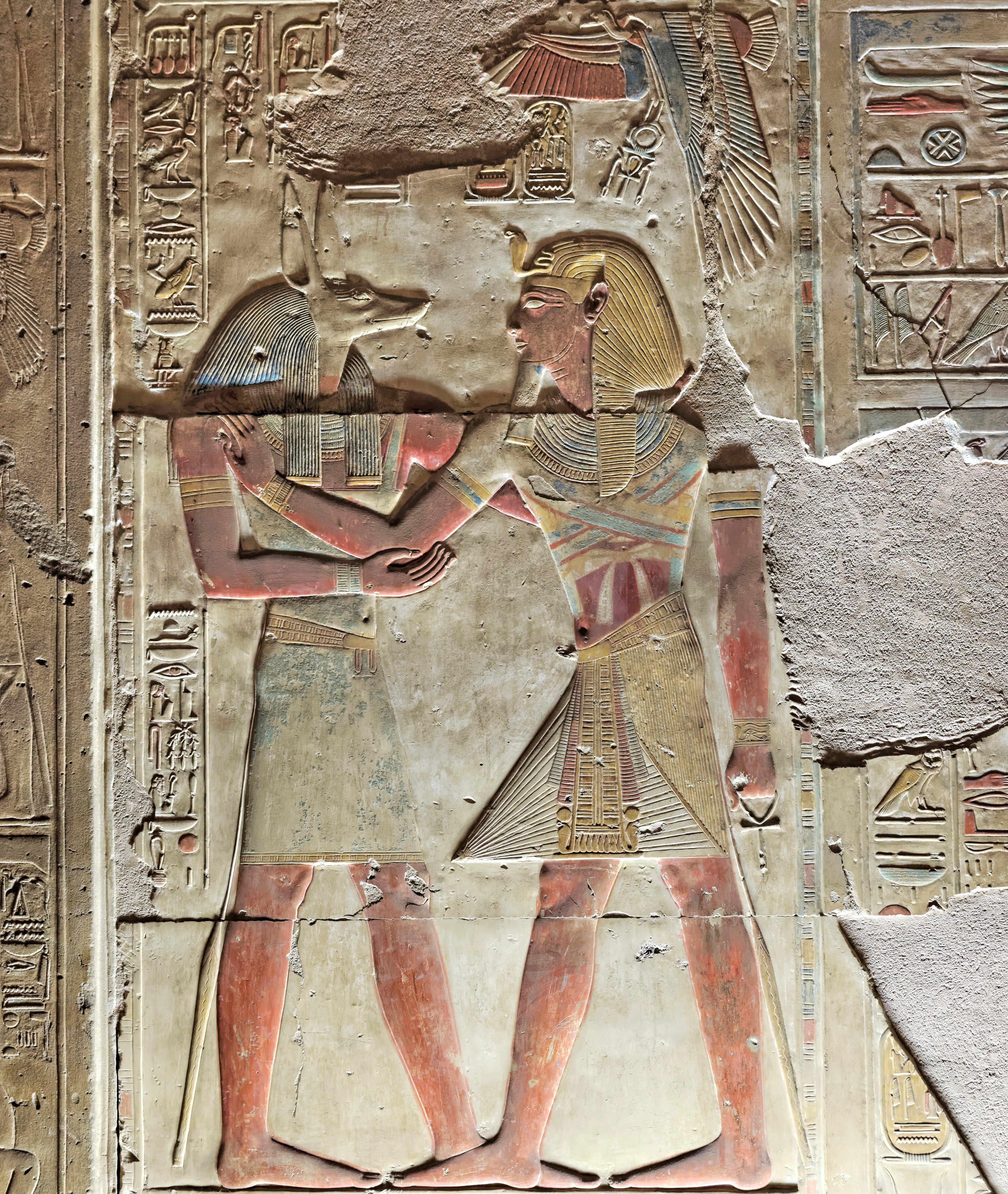 Wepwawet & Seti I, Abydos (Illustration) - Ancient History ...
