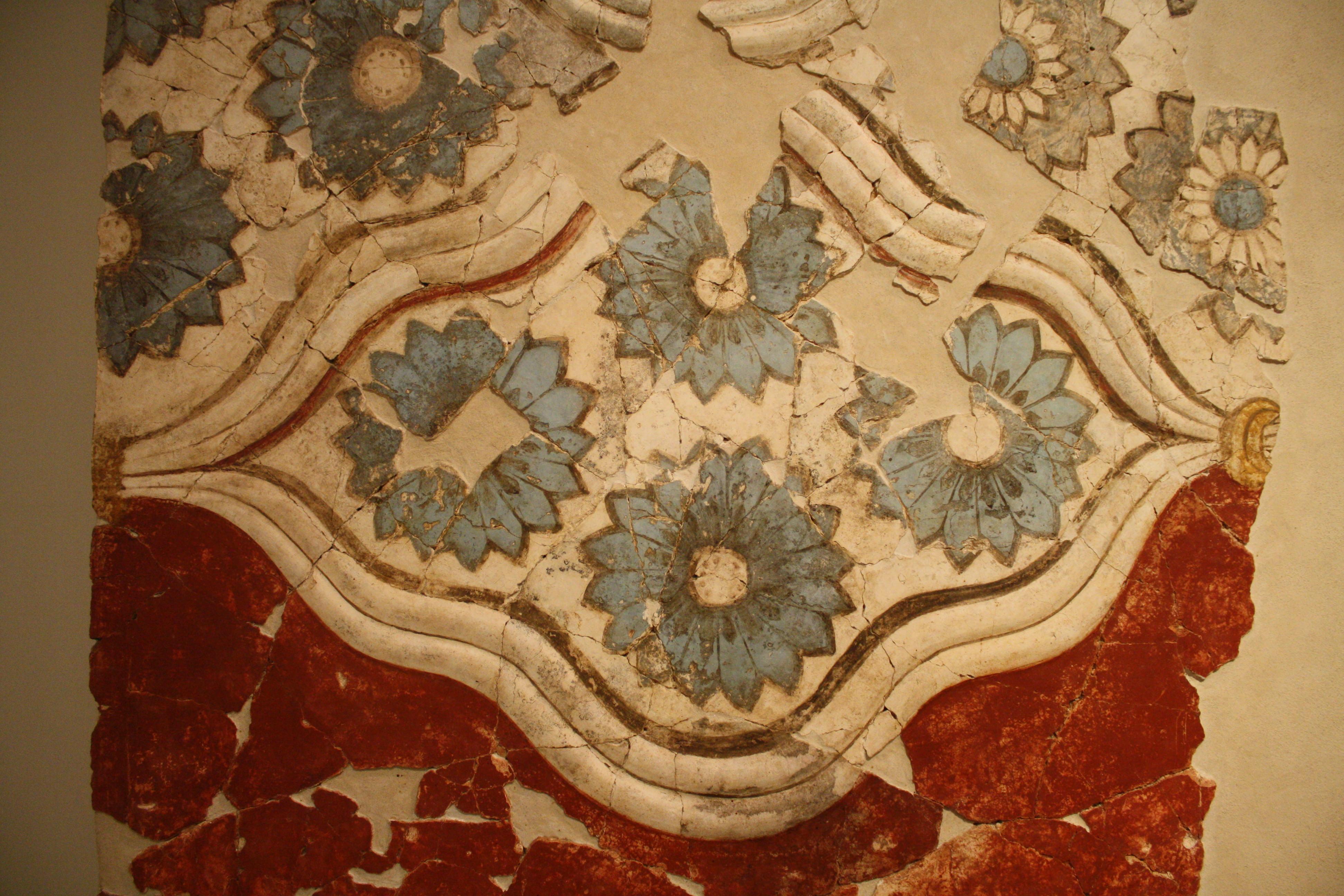 Wall-Painting, Akrotiri (Illustration) - Ancient History ...
