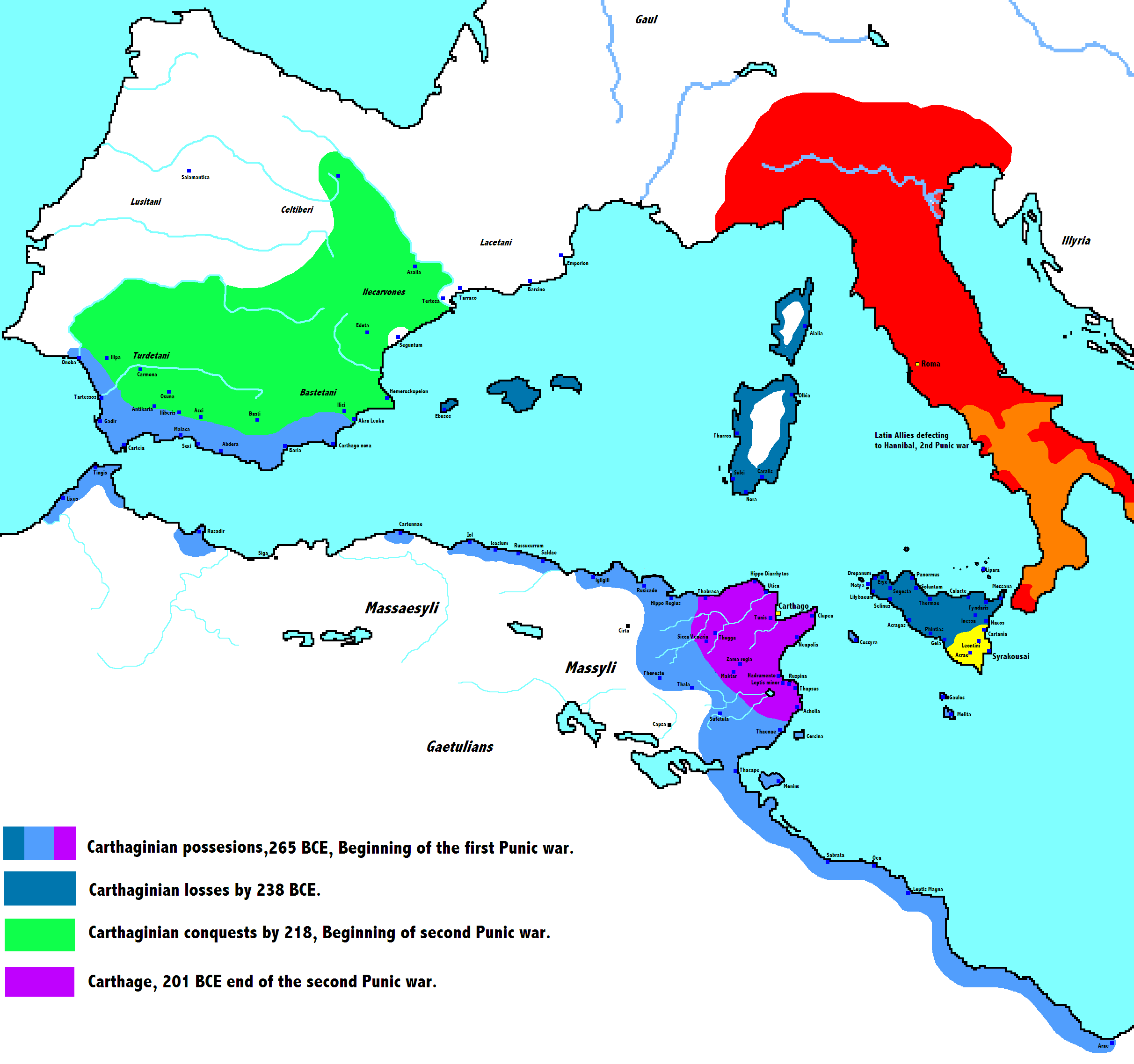 Carthage Ancient History Encyclopedia - Ancient rome map battle sites