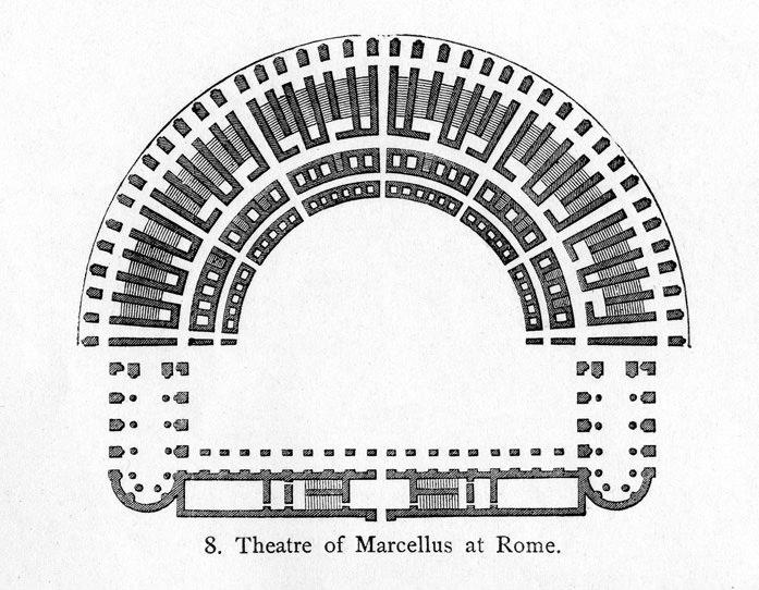 Floor Plan, Theatre of Marcellus (Illustration) - Ancient ...