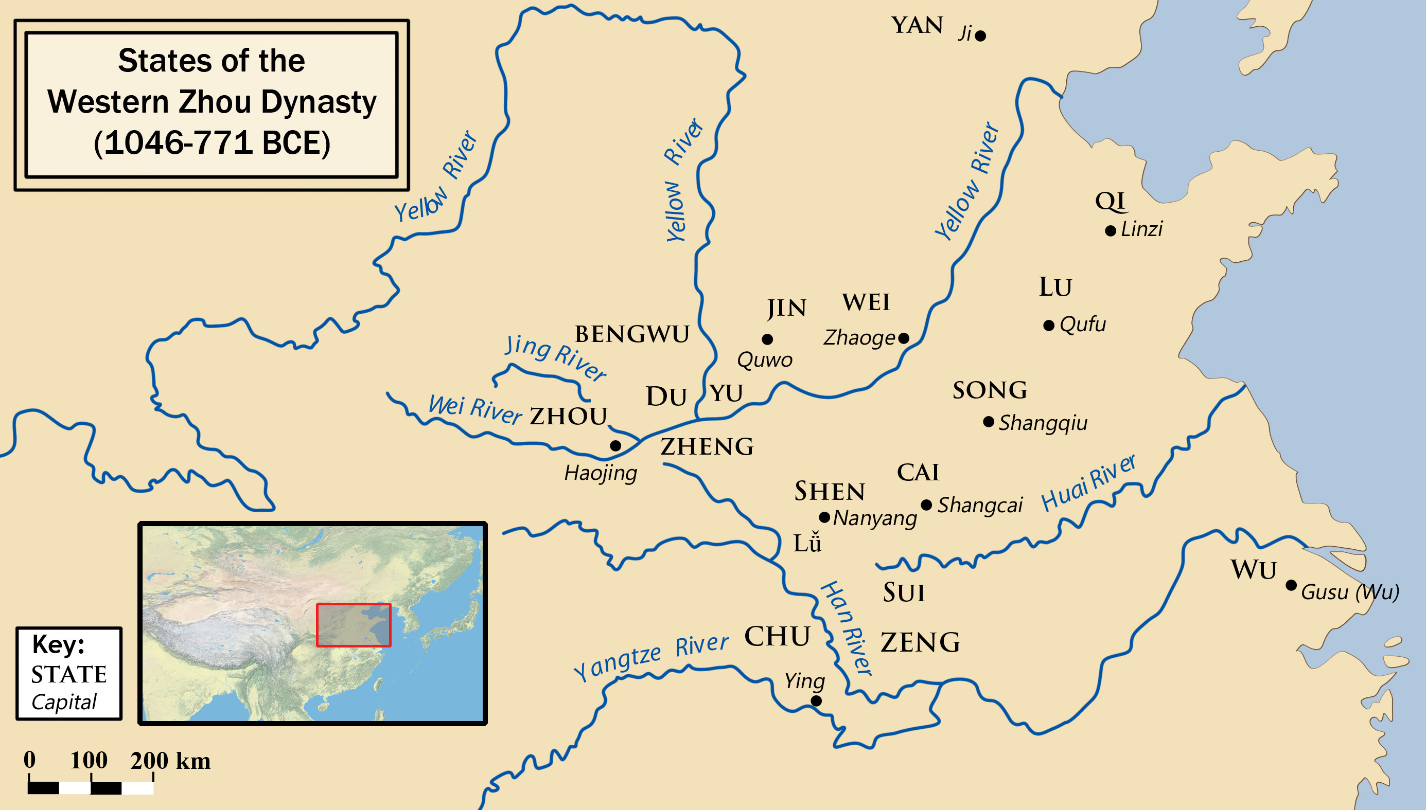 Zhou Dynasty Ancient History Encyclopedia - United states western states capitals map