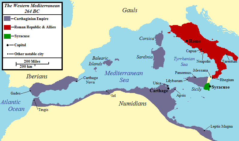 The Western Mediterranean 264 BCE (Illustration) - Ancient History ...