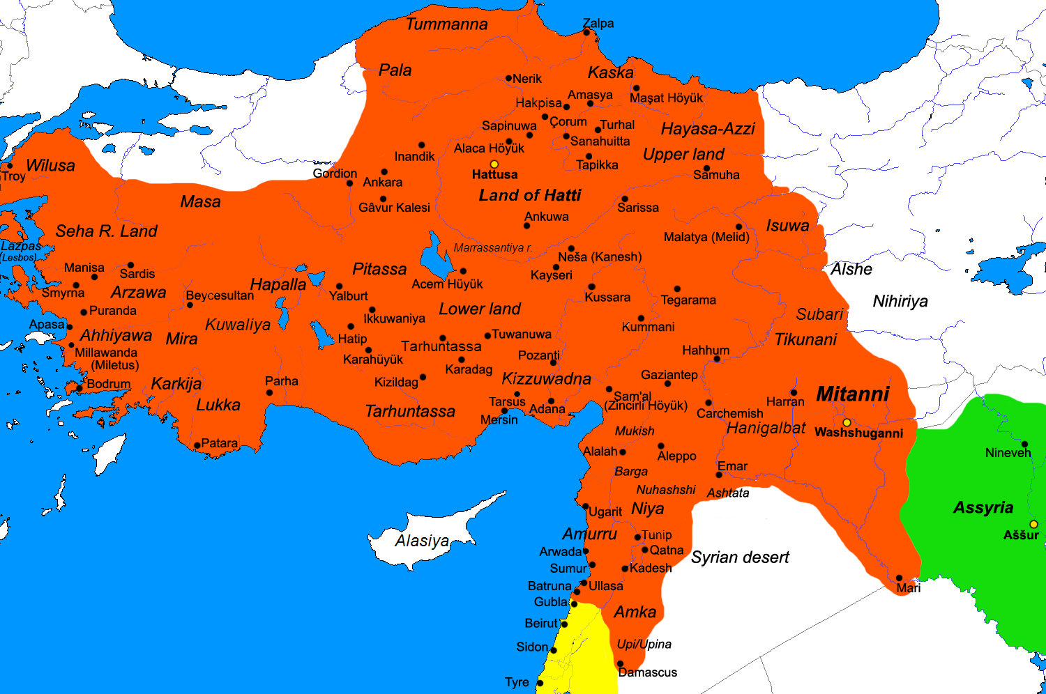 the history and contribution of the hittite empire