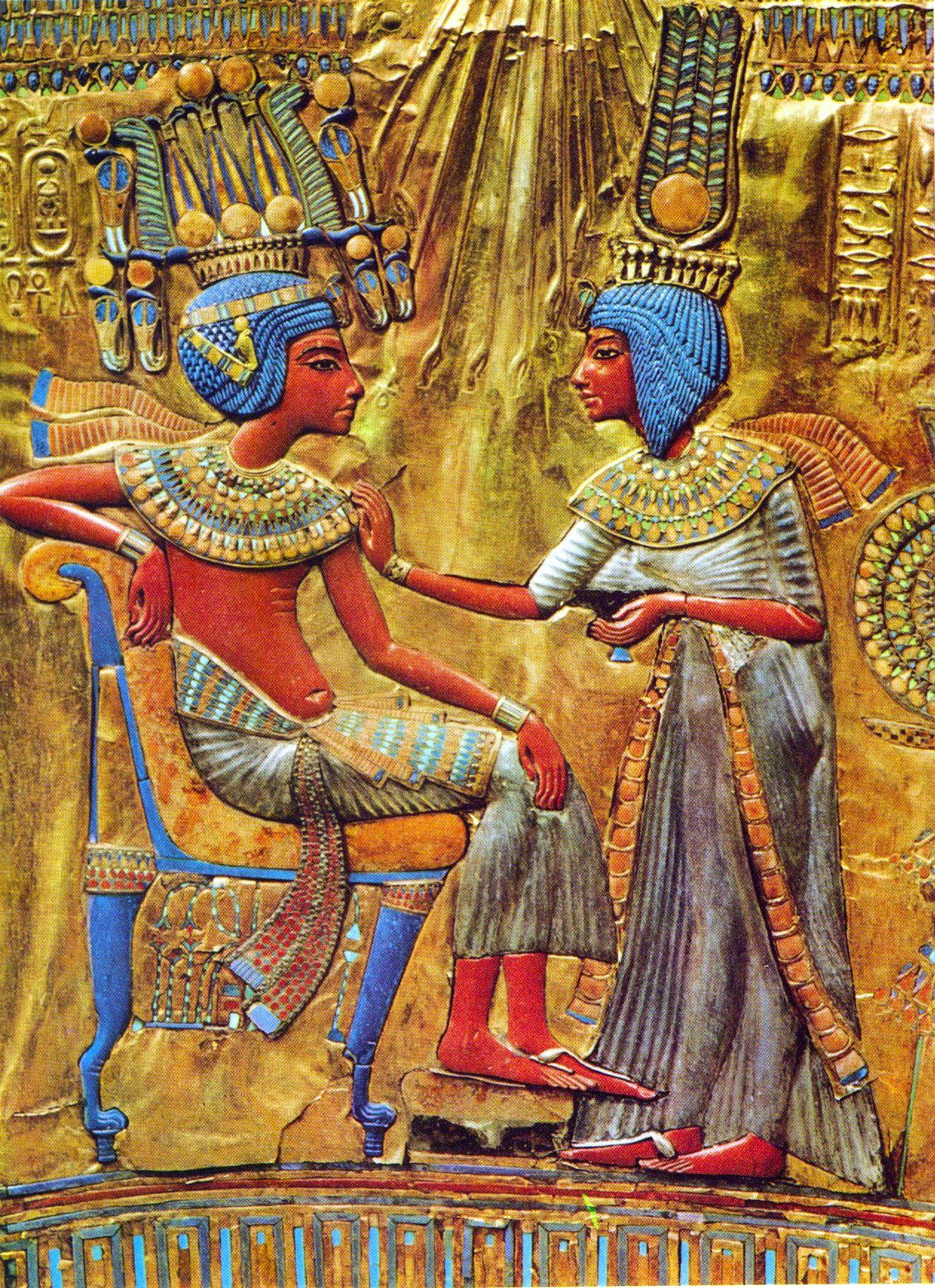 Color in ancient egypt article ancient history encyclopedia tutankhamun ankhsenamun biocorpaavc Gallery