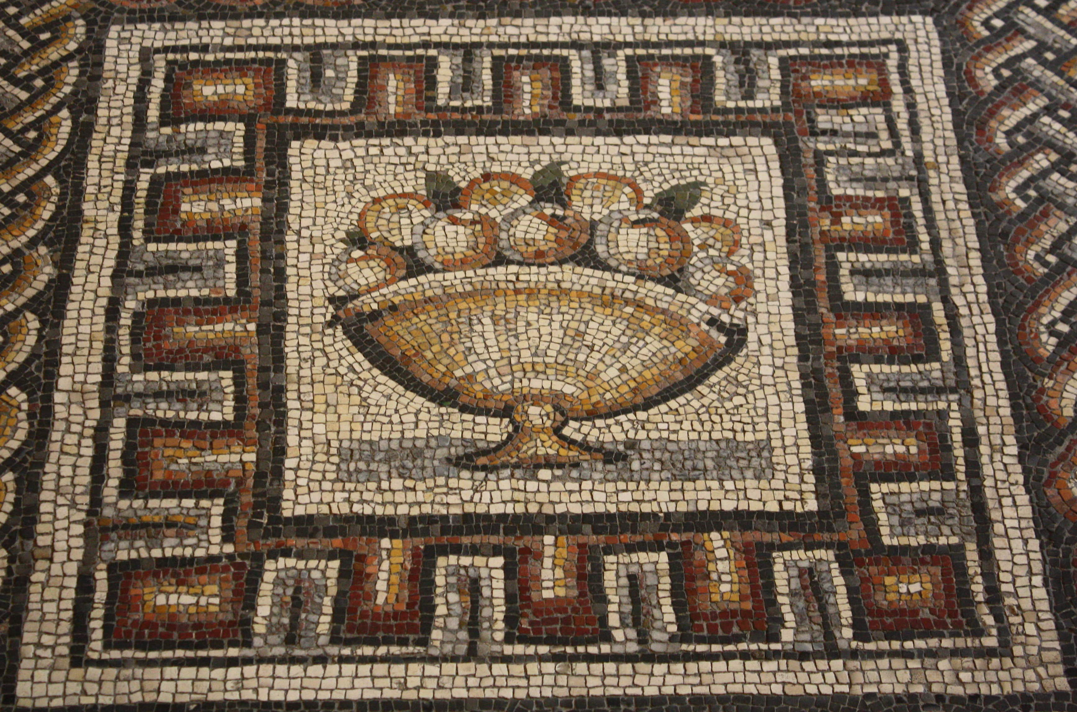 Fruit, Roman Mosaic (Illustration) - Ancient History Encyclopedia