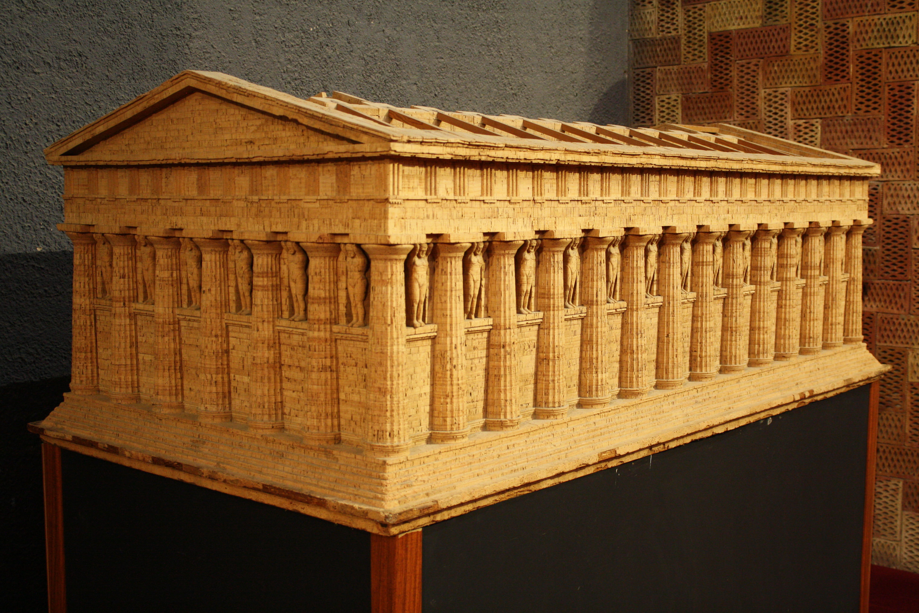 Temple Of Zeus Model Agrigento Illustration Ancient
