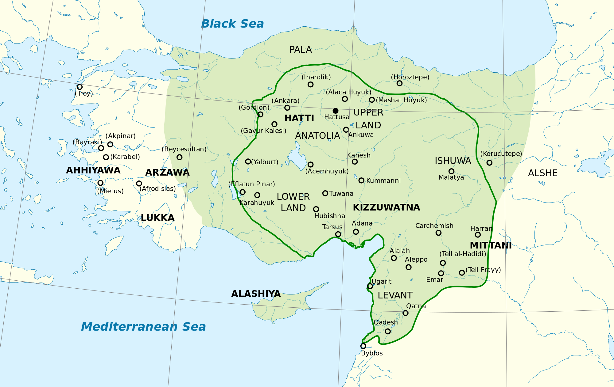 Map of the Hittite Empire (Illustration)   Ancient History